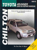 Chilton S Toyota 4runner 2003 09 Repair Manual