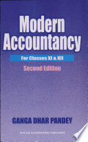 Modern Accountancy For Xi   Xii