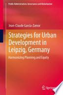 Strategies for Urban Development in Leipzig  Germany