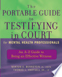 The Portable Guide to Testifying in Court for Mental Health Professionals