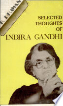 Selected Thoughts of Indira Gandhi