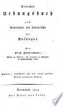 Deutsches Übungsbuch zum Übersetzen ins Lateinische, für Anfänger