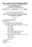Pflanzenschutz Berichte