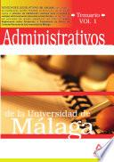 Administrativos de la Universidad de Malaga  Temario  Volumen i Ebook