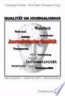 Qualität im Journalismus