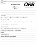 QRB  Quality Review Bulletin
