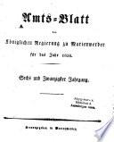 Amtsblatt für den Regierungsbezirk Marienwerder