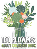 Book 100 Flowers Coloring Book