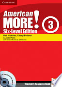 American More  Six Level Edition Level 3 Teacher s Resource Book with Testbuilder CD ROM Audio CD