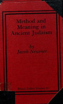 Method and meaning in ancient Judaism