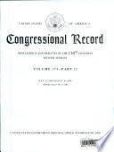 United States Of America Congressional Record Proceedings And Debates Of The 110th Congress Second Session Volume 154-Part 12 : ...