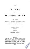 The Works of William Robertson  D  D