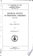 Physical Status of Preschool Children  Gary  Ind