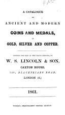 download ebook a catalogue of ancient and modern coins and medals, in gold, silver and copper pdf epub