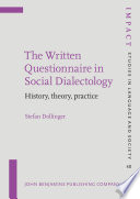 The Written Questionnaire in Social Dialectology
