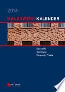 Mauerwerk Kalender 2016