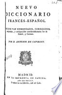 Nuevo diccionario franc  s espa  ol