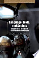 Language, Texts, and Society Research Papers Published Over A Period Of About