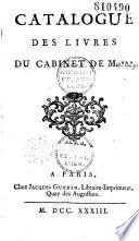 Catalogue des livres du cabinet de M       Jean Pierre Imbert Ch  tre de Cang