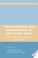 State Recognition and Democratization in Sub-Saharan Africa