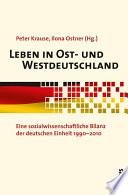 Leben in Ost- und Westdeutschland