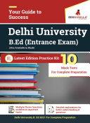 Delhi University (DU B.Ed) 2021 | 10 Mock Tests for Complete Preparation Book