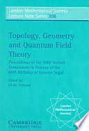 Topology  Geometry and Quantum Field Theory