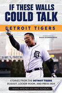 If These Walls Could Talk  Detroit Tigers