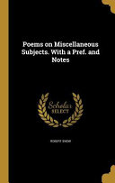 POEMS ON MISC SUBJECTS W/A PRE