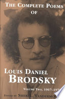 The Complete Poems of Louis Daniel Brodsky  Volume  Two  1967 1976