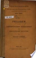 Philodem und die ästhetischen Schriften der herculanischen Bibliothek