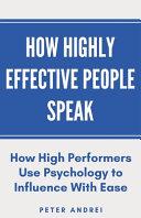 Book How Highly Effective People Speak