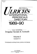 Ulrich s International Periodicals Directory  1989 90