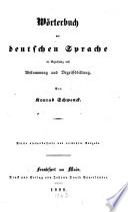 W  rterbuch der deutschen Sprache in Beziehung auf Abstammung und Begriffsbildung