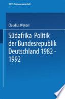 Südafrika-Politik der Bundesrepublik Deutschland 1982 – 1992