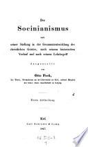 """""""Der"""" Socinianismus nach seiner Stellung in der Gesammtentwicklung der christlichen Geister (etc.)"""