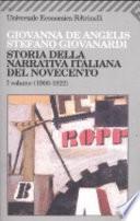 Storia della narrativa italiana del Novecento  1900 1922