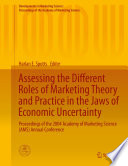download ebook assessing the different roles of marketing theory and practice in the jaws of economic uncertainty pdf epub