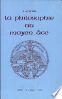 illustration La Philosophie au Moyen Āge