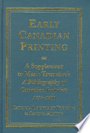Early Canadian Printing