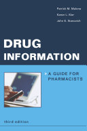 Drug Information : distribution means for drug information, and detailed sections...