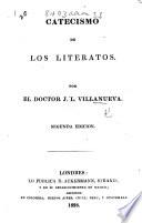 Catecismo de los literatos ... Segunda edicion