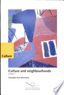 Culture and Neighbourhoods: Concepts and references