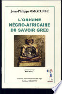 L origine n  gro africaine du savoir grec