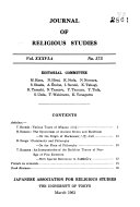 Journal of religious studies