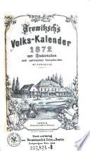 Trowitzsch s Volks Kalender  Volks Calender      mit Stahlstichen und zahlreichen Holzschnitten