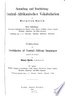 Collection of vocabularies of Central-African languages