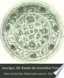 Anzeiger für Kunde der deutschen Vorzeit