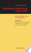 Vorgeschichte und Gr  ndung des Ausschusses zur Vorbereitung einer deutschen Volksfront