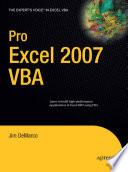 Pro Excel 2007 VBA